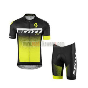 2017 Team SCOTT Bike Kit Black White Yellow 5ee6f8d6b