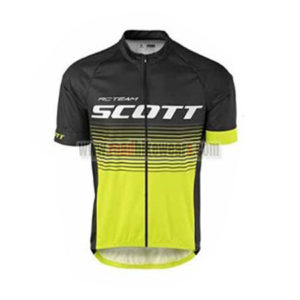 2017 Team SCOTT Biking Jersey Maillot Shirt Yellow Black