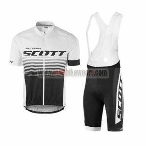 2017 Team SCOTT Riding Apparel Cycle Jersey and Padded Bib Shorts Roupas  Bicicleta White Black 65a766749