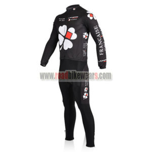 2010 Team FDJ Cycle Long Suit Black