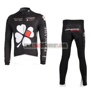 2010 Team FDJ Cycling Long Suit Black