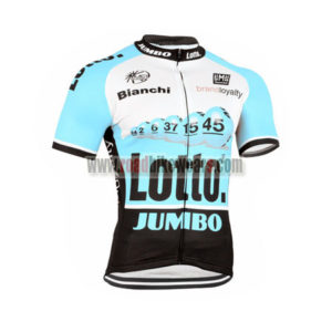 2015 Team LOTTO JUMBO Cycling Jersey Maillot Shirt Blue