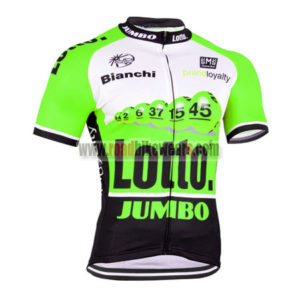 2015 Team LOTTO JUMBO Cycling Jersey Maillot Shirt Green