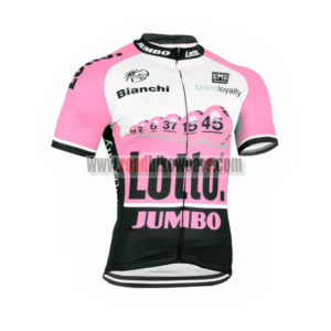 2015 Team LOTTO JUMBO Cycling Jersey Maillot Shirt Pink