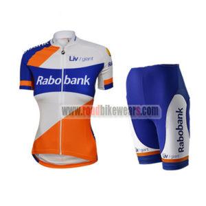 9e7356c3d 2015 Team Rabobank Women s Biking Clothing Cycle Jersey and Padded Shorts  Roupas Bicicleta White Blue Orange