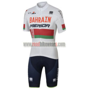 2017 Team BAHRAIN MERIDA Belarus Cycling Set White