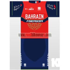 2017 Team BAHRAIN MERIDA Cycling Set Red Blue