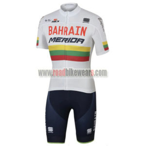 2017 Team BAHRAIN MERIDA Lithuania Cycling Set White