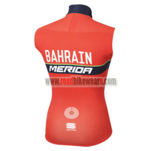 2017 Team BAHRAIN MERIDA Riding Vest Sleeveless Jersey Red