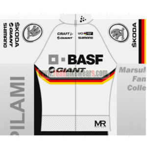 2017 Team BASF GIANT Cycling Jersey Maillot Shirt White