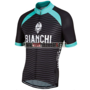 2017 Team BIANCHI MILANO Biking Jersey Maillot Shirt Black Green