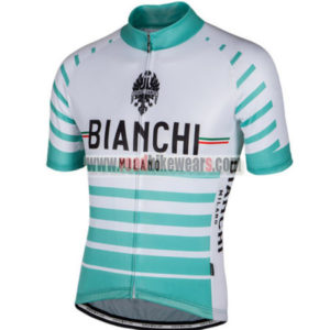 2017 Team BIANCHI MILANO Biking Jersey Maillot Shirt White Green