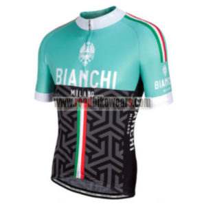 2017 Team BIANCHI MILANO Italy Cycle Jersey Maillot Shirt Green Black