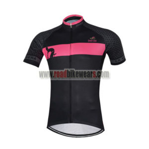 2017 Team LaGazzetta dello Sport Cycling Jersey Maillot Shirt Black Pink
