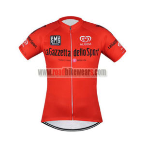 2017 Team LaGazzetta dello Sport Cycling Jersey Maillot Shirt Red