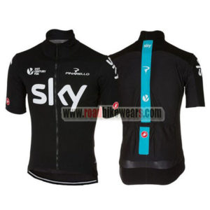 2017 Team SKY Bicycle Jersey Maillot Black