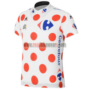 2017 Tour de France Cycling Jersey Maillot Shirt Polka Dot
