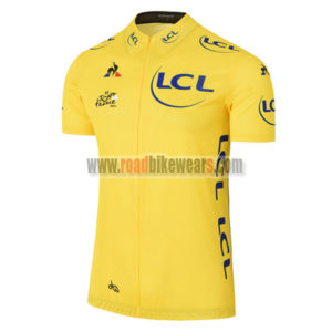 2017 Tour de France Riding Jersey Maillot Shirt Yellow