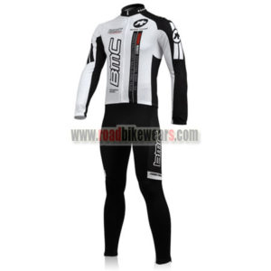 2010 Team BMC Biking Long Suit White Black