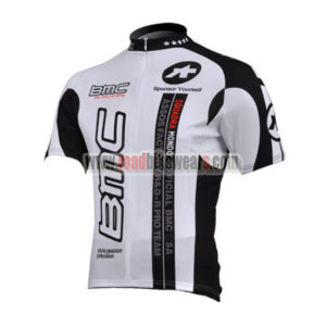 2010 Team BMC Cycle Jersey Maillot Shirt White Black