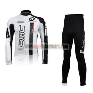 2010 Team BMC Cycle Long Suit White Black