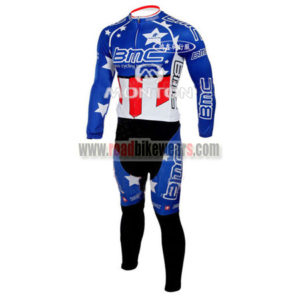 2010 Team BMC HINCAPIE Cycling Long Suit Blue Red