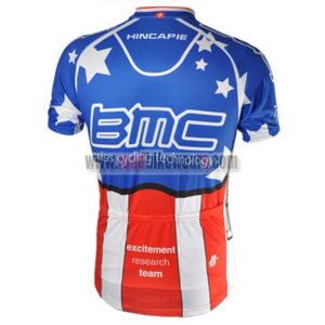 2010 Team BMC HINCAPIE Riding Jersey Maillot Shirt Blue Red