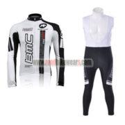 2010 Team BMC Racing Long Bib Suit White Black