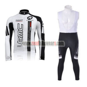 2010 Team BMC Racing Long Bib Suit White Black