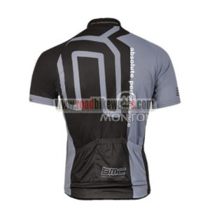 2011 Team BMC Biking Jersey Maillot Shirt Black Grey