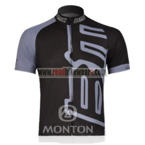 2011 Team BMC Riding Jersey Maillot Shirt Black Grey