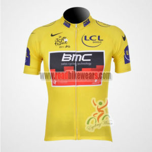 2011 Team BMC Tour de France Cycling Jersey Yellow