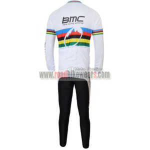 2011 Team BMC UCI Champion Cycle Long Suit White Rainbow