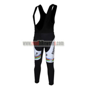 2011 Team BMC UCI Champion Riding Clothing Biking Padded Long Bib Pants  Tights Ciclismo Roupas Black White Rainbow c160fab9b