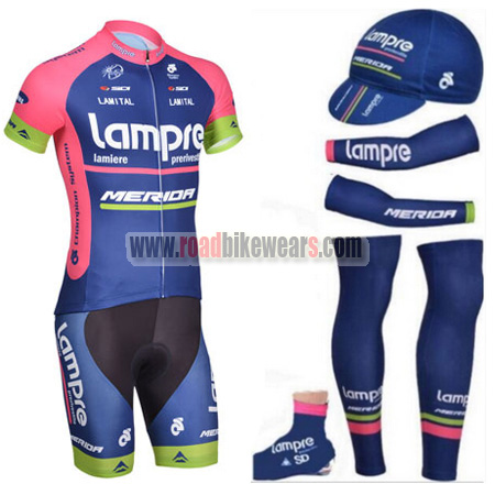 2014 Tam Lampre MERIDA Riding Outfit Cycle White Rainbow Jersey and ... 66ed2614d
