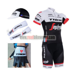 2016 Team TREK Bike Riding Apparel Set Cycle Jersey and Padded Bib Shorts+ Cap+Gloves+Arm Sleeves  d1ee5226a