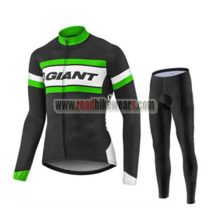 2017 Team GIANT Cycling Long Suit Black White Green