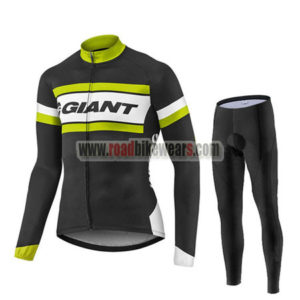 2017 Team GIANT Cycling Long Suit Black White Yellow