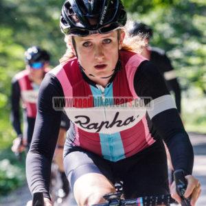 ab0daf279 2017 Team Rapha Women s Riding Wear Biking Clothing Cycle Long Jersey and  Padded Shorts Roupas Bicicleta