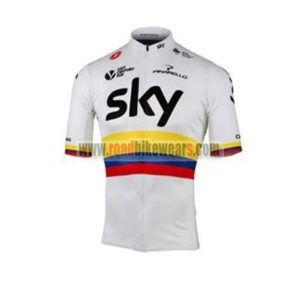 2017 Team SKY Colombia Cycling Jersey Maillot Shirt White