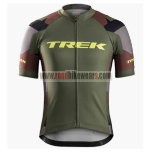 2017 Team TREK Cycling Jersey Maillot Shirt Olive Green