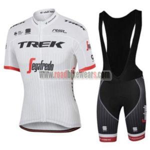 49db802c3 2017 Team TREK Segafredo Riding Apparel Cycle Jersey and Padded Bib Shorts  Roupas Bicicleta White