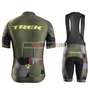 2017 Team TREK Riding Bib Kit Olive Green