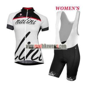 b4b33daca 2017 Team Nalini Ladies Riding Outfit Cycle Jersey and Padded Bib Shorts  Roupas Bicicleta Black White