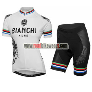 8119765cd 2016 Team BIANCHI Women s Biking Clothing Cycle Jersey and Padded Shorts  Roupas Bicicleta White Rainbow