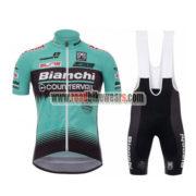 2017 Team Bianchi COUNTERVAIL Cycling Bib Kit Blue Black