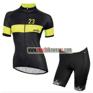 2017 Team Nalini Women s Biking Clothing Cycle Jersey and Padded Shorts  Roupas Bicicleta Black Yellow 5c60a153b