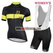 2017 Team Nalini Women's Cycling Bib Kit Black Yellow
