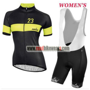 3bcdead4e 2017 Team Nalini Ladies Riding Outfit Cycle Jersey and Padded Bib Shorts  Roupas Bicicleta Black Yellow