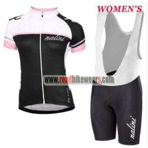 2017 Team Nalini Ladies Riding Outfit Cycle Jersey and Padded Bib Shorts  Roupas Bicicleta White Black Pink ddc7e27cc
